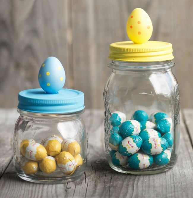 Easter chocolate eggs jar home decor masonjar craft ideas easter gifts ideas home decor chocolate eggs jar negle Gallery