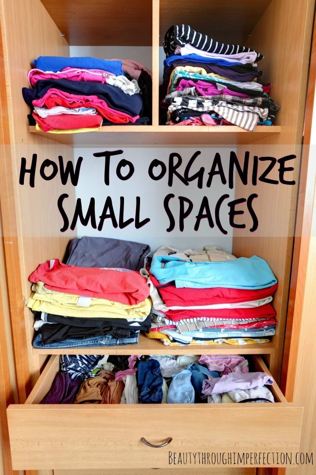 How To Organize A Small House Storage Hacks Workout Clothes