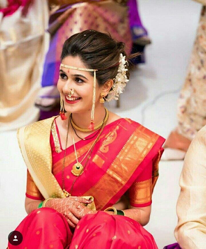 Hindu Bridal Hairstyles 14 Safe Hairdos For The Modern: Pin By ꌚꍏꀘꌚꀍꀤ 🐰^_^ On Maharashtrian Swag
