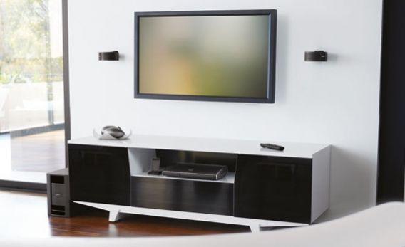 Soundsystem Heimkino Loungemobel Sofa Modern Stoff Grau