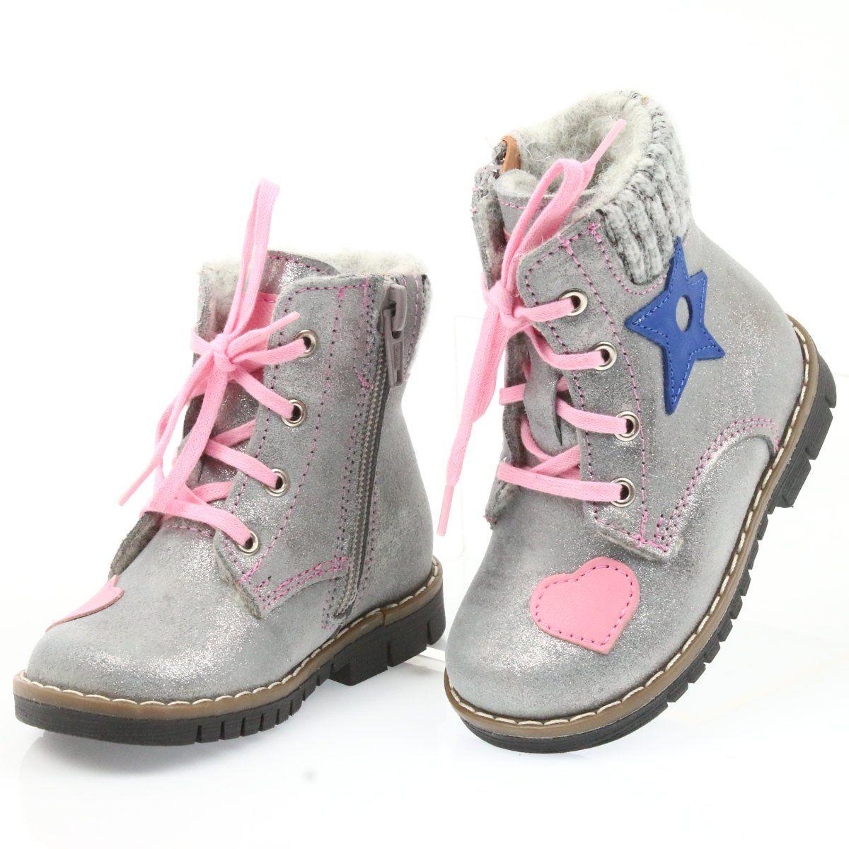 Kozaczki Timberki Ren But 1508 Szare Combat Boots Boots Hiking Boots