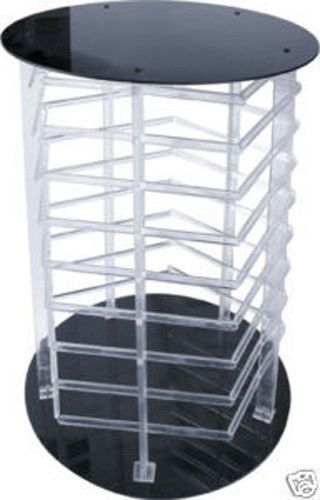 Earring Display Stand Revolving 40 Sided Clear Acrylic Rotating Holds Enchanting Revolving Jewelry Display Stand