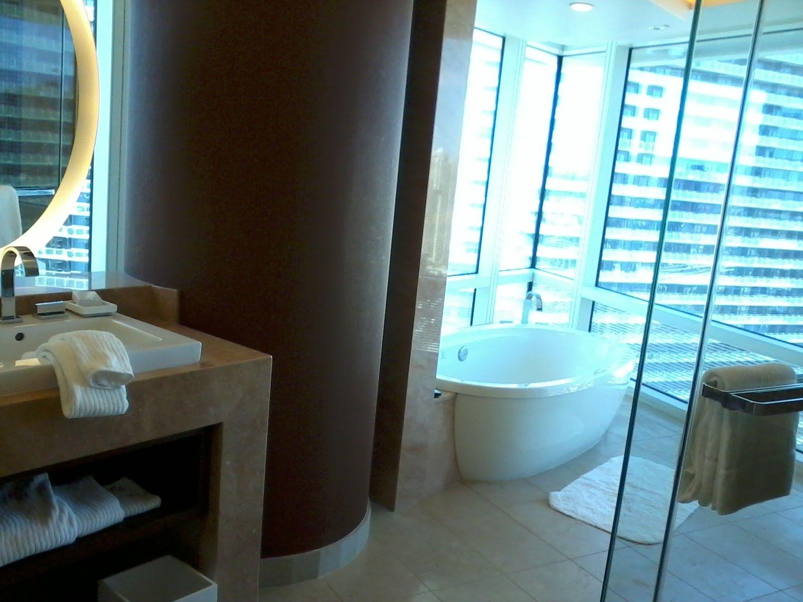ARIA Corner Suite - best bathroom in town!   Las Vegas Hotels ...