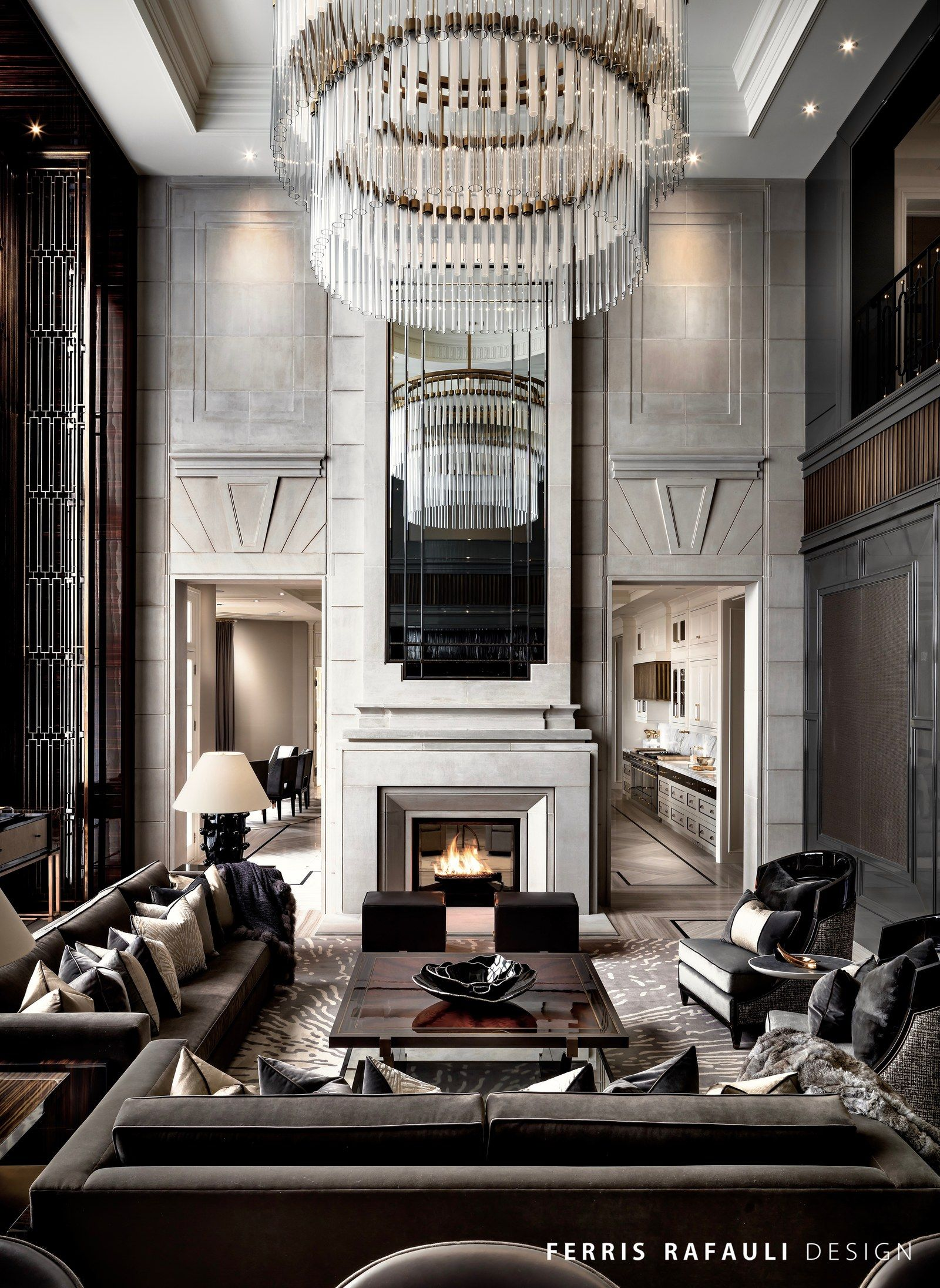 Ferris rafauli specializes in integrating ultra luxury for Fancy home decor