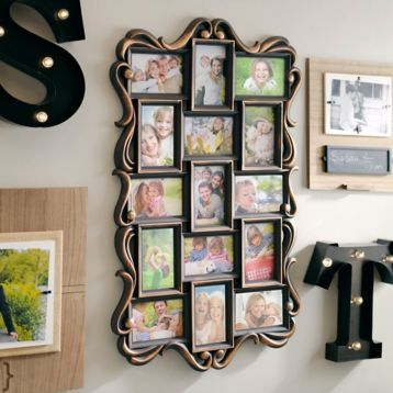 Bronze Ornate Scroll 15-Opening Collage Frame   Pinterest   Collage ...