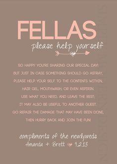 Fellas Bathroom Sign Mervinandangie Pinterest Wedding Stuff Funny Basket Poem