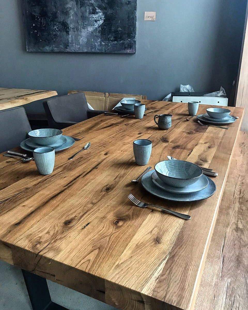 Massivholztisch Esstisch Eichentisch Altholz Rustikal Tisch Tischplatte  Holztisch Table Dinningtable Massivholzmöbel Www.holzwerk Hamburg