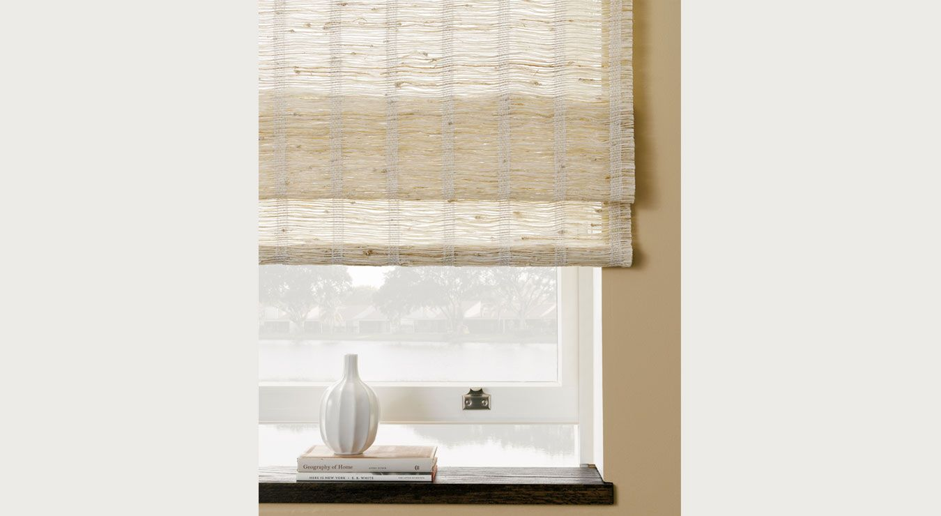 Natural roman shade for the windows at the end of the hall for Smith and noble bamboo shades
