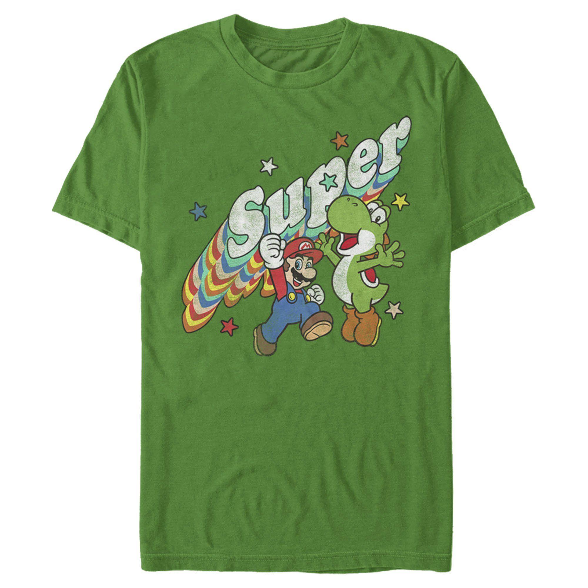 Nintendo Men S Mario And Yoshi Retro Super T Shirt In 2021 Mens Tees Mario Yoshi Mens Tshirts [ 2000 x 2000 Pixel ]