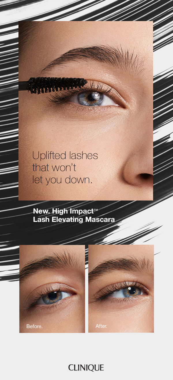 7229add1627 We've found your next mascara. NEW Clinique High Impact Lash Elevating  Mascara. Clump, flake and smudge resistant formula with an all-day hold.
