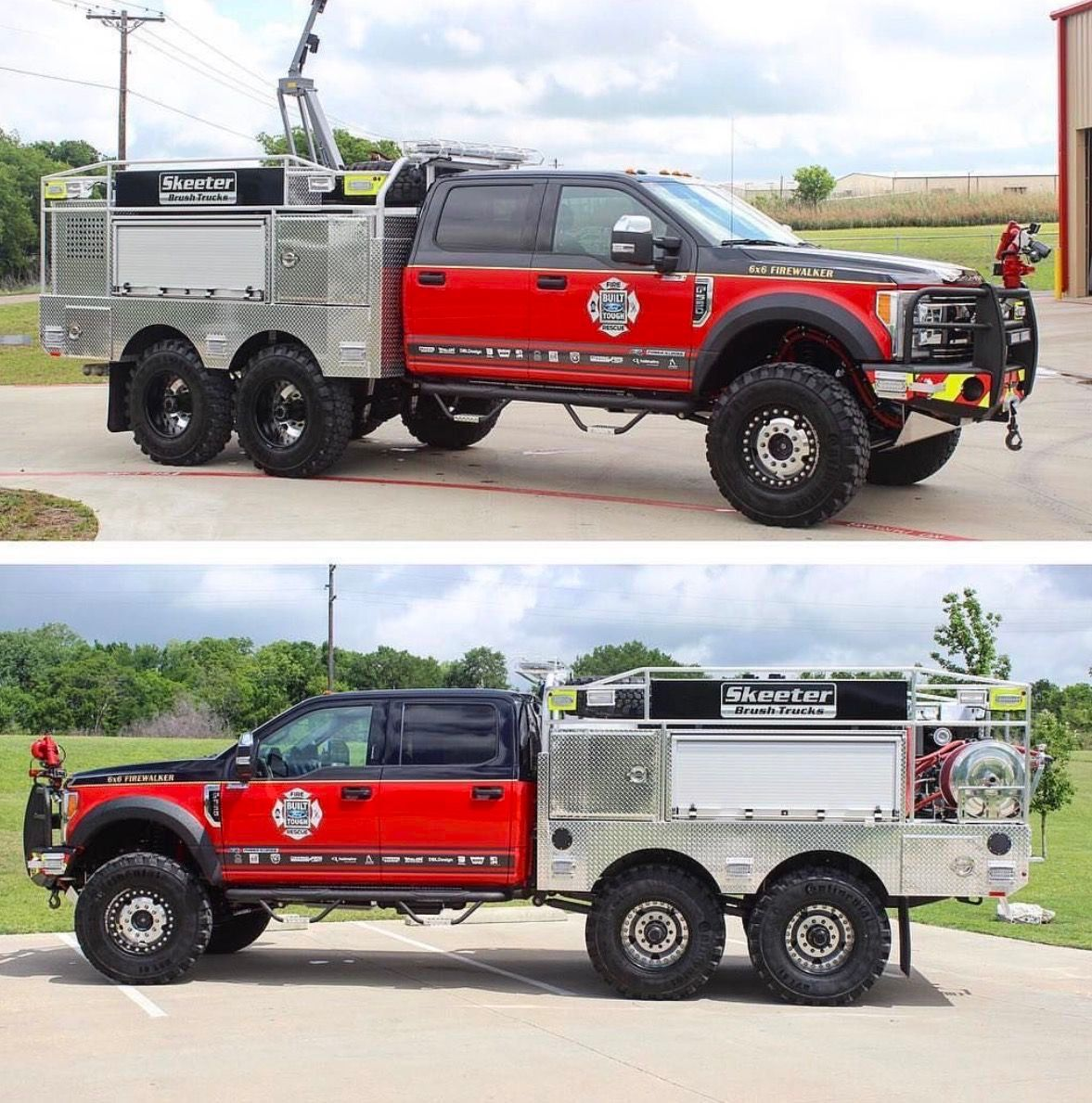 Skeeter Brush Truck 6x6 Fire Walker  2017 Ford F550 Platinum