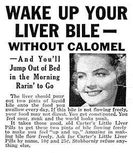 Newspaper Advert for Carter's Little Liver Pills