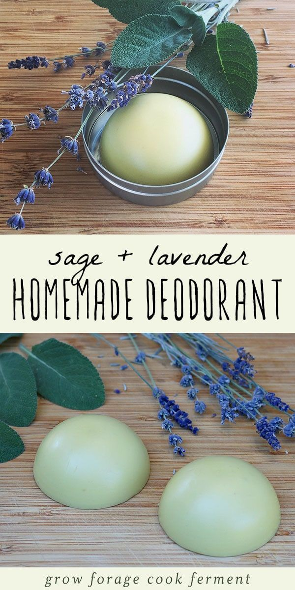 Homemade Deodorant Recipe with Lavender and Sage #beauty