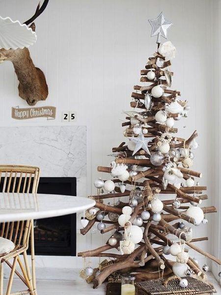 arbol de navidad decoracion plata - Buscar con Google