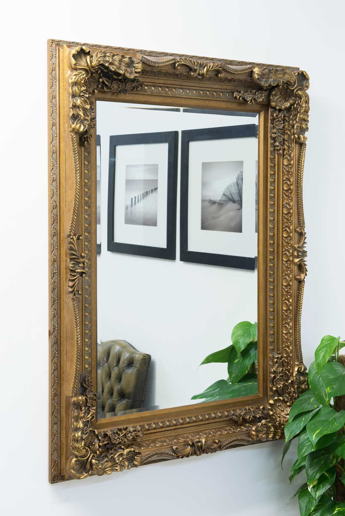Charlton Gold Framed Mirror 90x122cm - Soraya Interiors UK | Gold ...