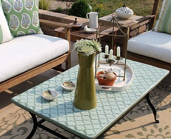 Charming How To Create A Gorgeous Outdoor Coffee Table