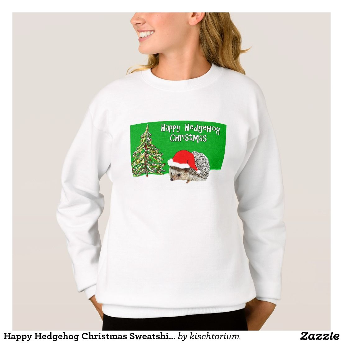 Happy Hedgehog Christmas Sweatshirt for Kids