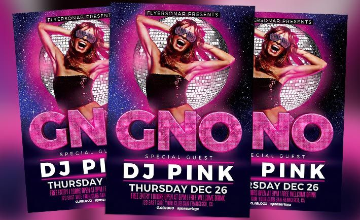 Girls Night Out Free PSD Flyer Template - http\/\/flyersonar - talent show flyer
