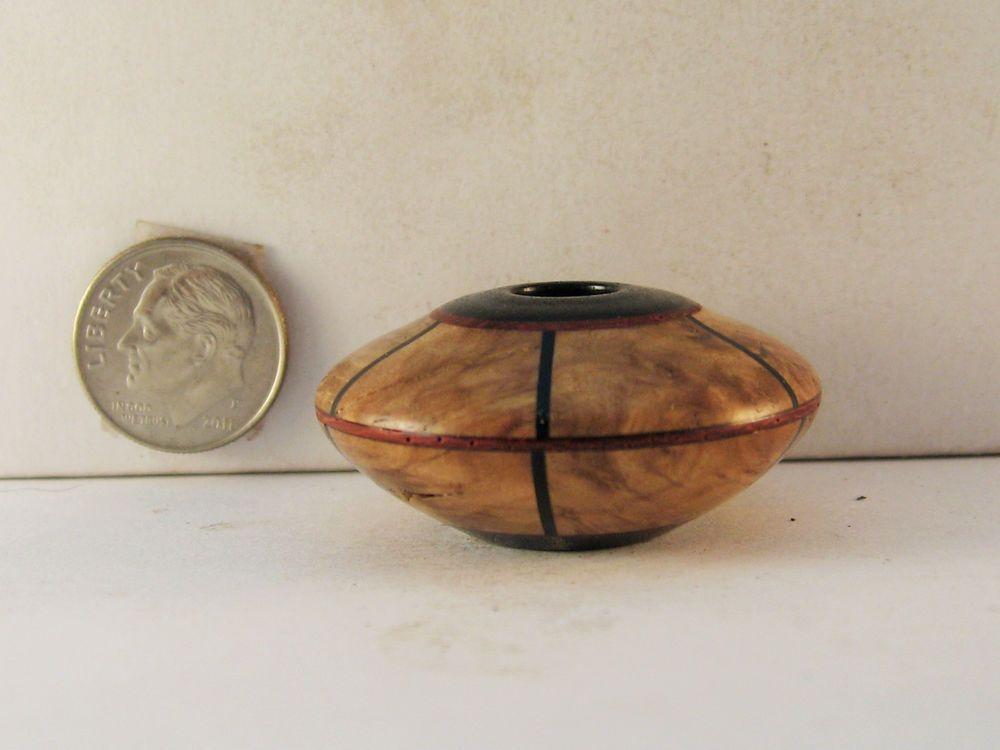 Brian Hart, Hartwood Turnings - mallee burl/padauk/pickguard SEGMENTED hollow vase