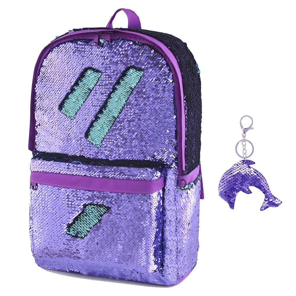 36a3e09e2 Amazon.com | Flip Glitter Mermaid School Bag Magic Flip Reversible ...