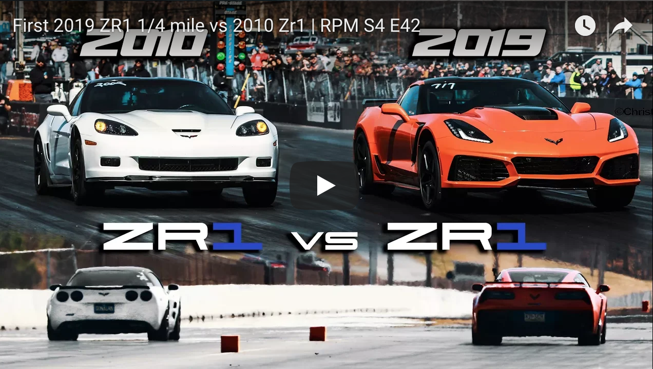 First 2019 Zr1 1 4 Mile Vs 2010 Zr1 Rpm S4 E42 Muscle Car Fan