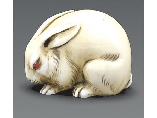 19thC Japanese netsuke of a rabbit - Miller's Antiques & Collectables Price Guide