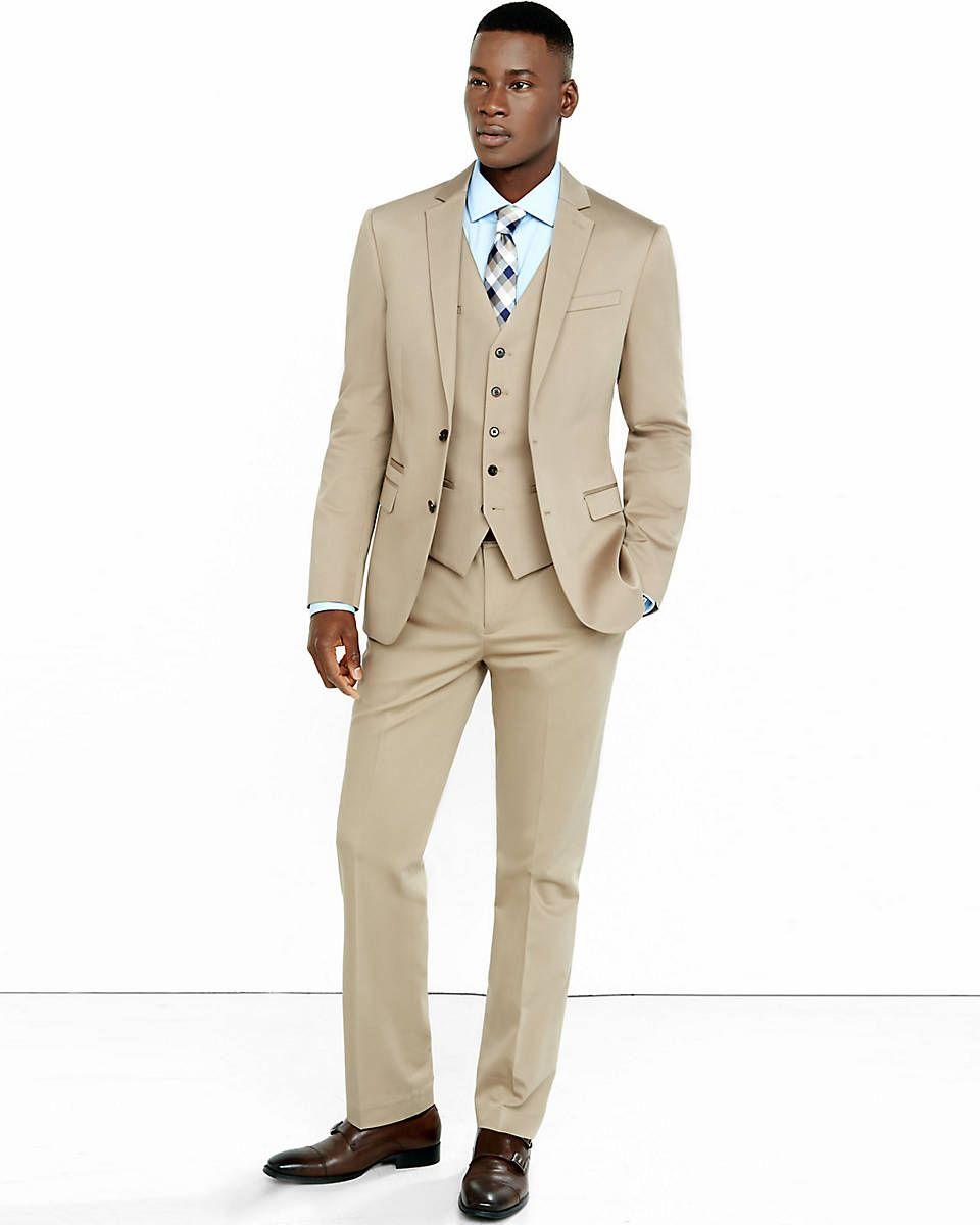 khaki cotton suit for bridesman