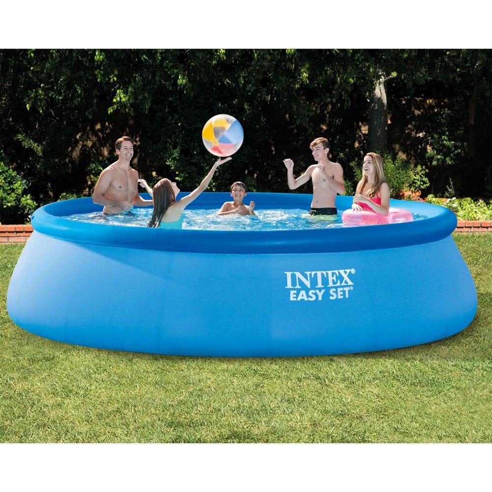 Intex 15 X 42 Inflatable Easy Set Swimming Pool And Debris Vinyl Cover Tarp Easy Set Pools Inflatable Pool Intex
