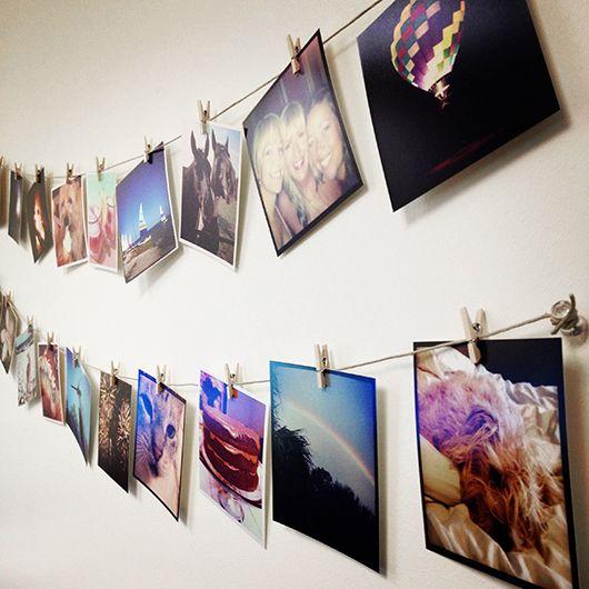 diy instagram wall art diy ideen f r deine fotos fotos deko und dunkelkammer. Black Bedroom Furniture Sets. Home Design Ideas