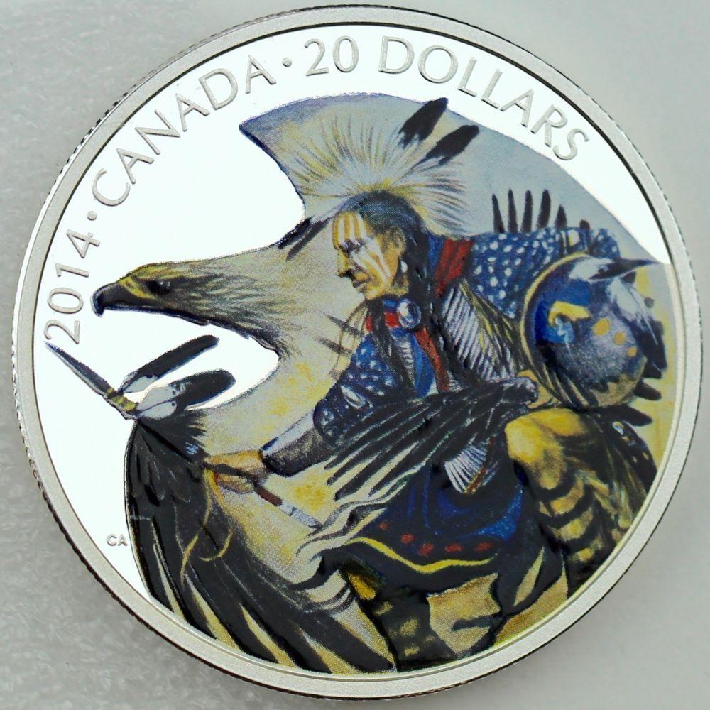2014 Canada $20 Fine Silver Coin Nanaboozhoo and the Thunderbird/'s Nest