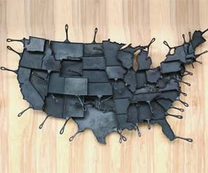 Cook a hearty meal with your favorite state with these map of America cooking pans. Each state is sold separately, but if you purchase all 48 state cooking pans you can perfectly piece them together for one amazing and expensive functional art piece. 'Merica.