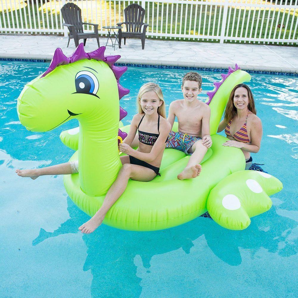 Inflatable Mega Dinosaur Pool Float Lake Toy 117 Inches Sunpleasure Pool Floaties Summer Pool Floats Swimming Pool Toys