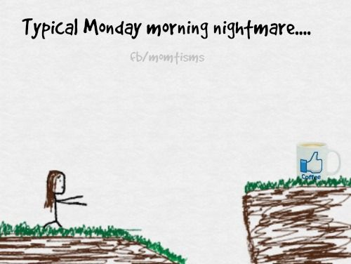 Monday mornings - it's all downhill from here!