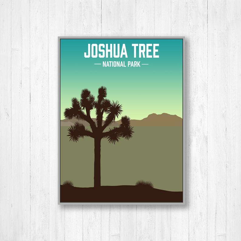 Joshua Tree National Park Modern Illustration Print Joshua Etsy Joshua Tree National Park Illustration Print Joshua Tree