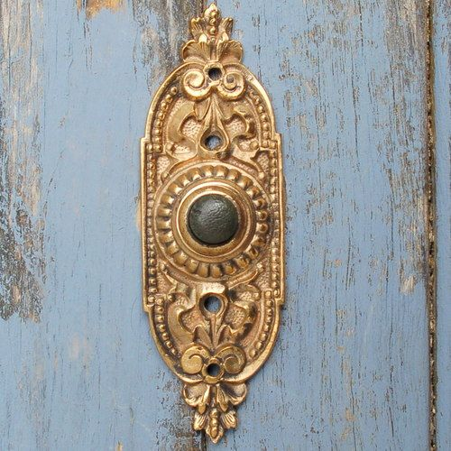Details About Antique Push Button Doorbell Cover Plate