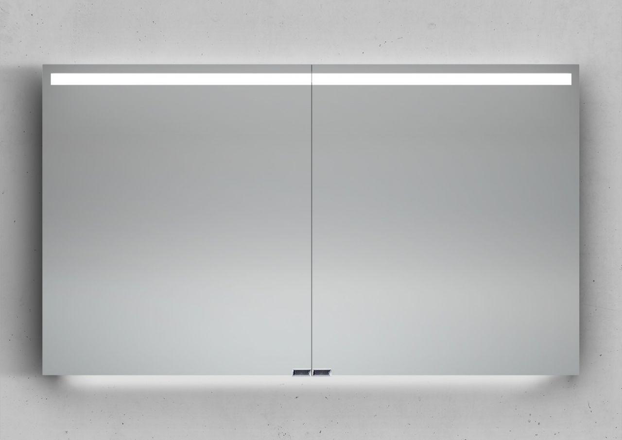 Spiegelschrank 120 cm integrierte LED Beleuchtung doppelt ...