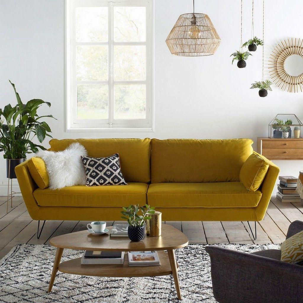 quelle d co pour un salon avec un canap jaune yellow. Black Bedroom Furniture Sets. Home Design Ideas