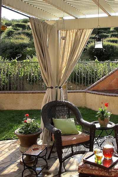 Attractive Curtains For Backyard Privacy