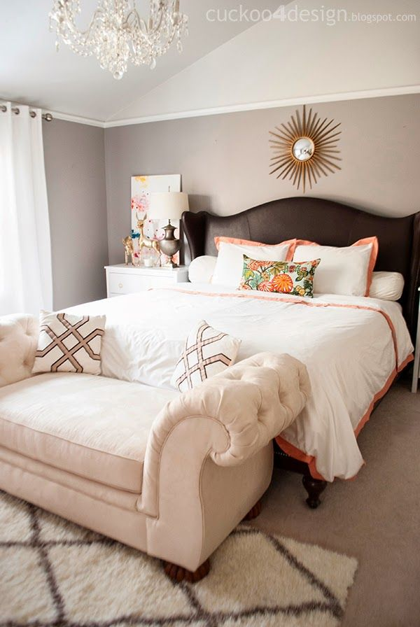 Love the colors in this bedroom - Cuckoo 4 Design #vaultedceilingdecor