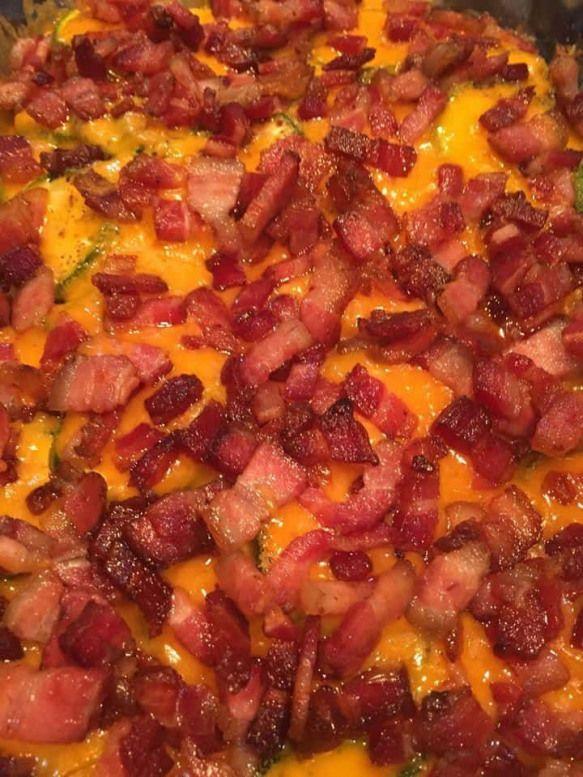 Low Carb Bacon Zucchini Casserole