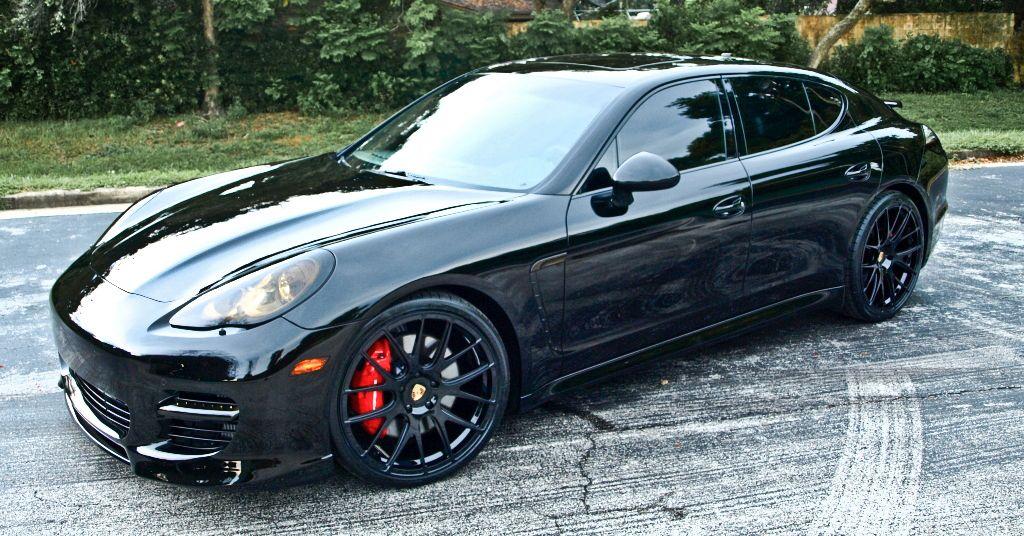 dwight howard drives a black porsche panamera superstar autos - Porsche Panamera Black And White