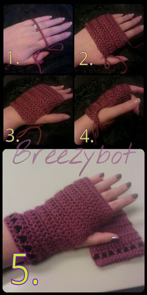 gants sans doigts Fingerless Gloves | Crochet this | Pinterest ...