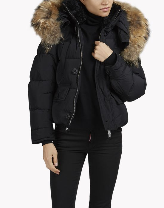 Fur Woman Jacket Hood Coatsamp; Dsquared2Outfit Puffer Jackets POTkXiZu
