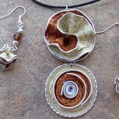 Bijoux parure collier boucles d'oreilles capsule café nespresso, vanilio,vanille, livanto, beige, bronze