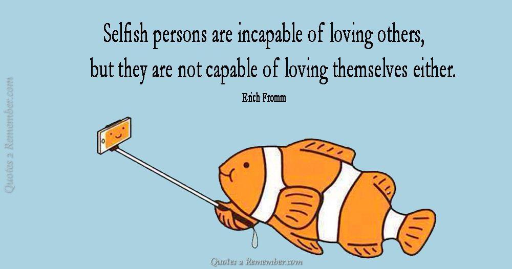 dating selfish person