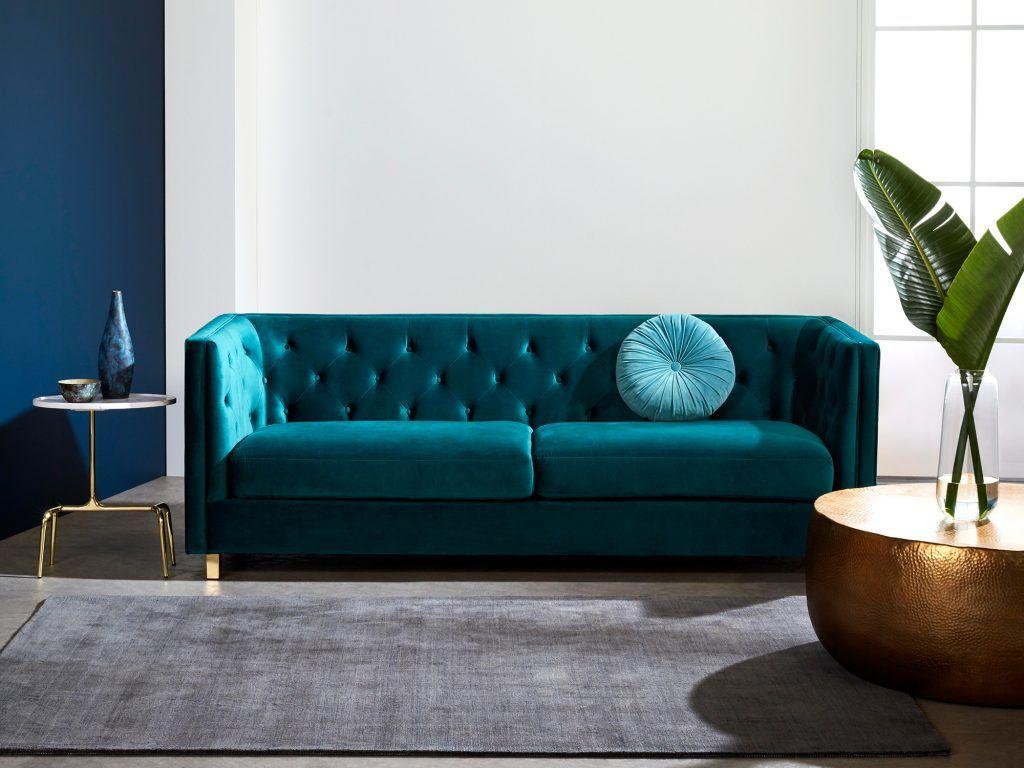 Canape Lit 3 Places Bleu Nuit Sofa Fabric Sofa Sofa Bed