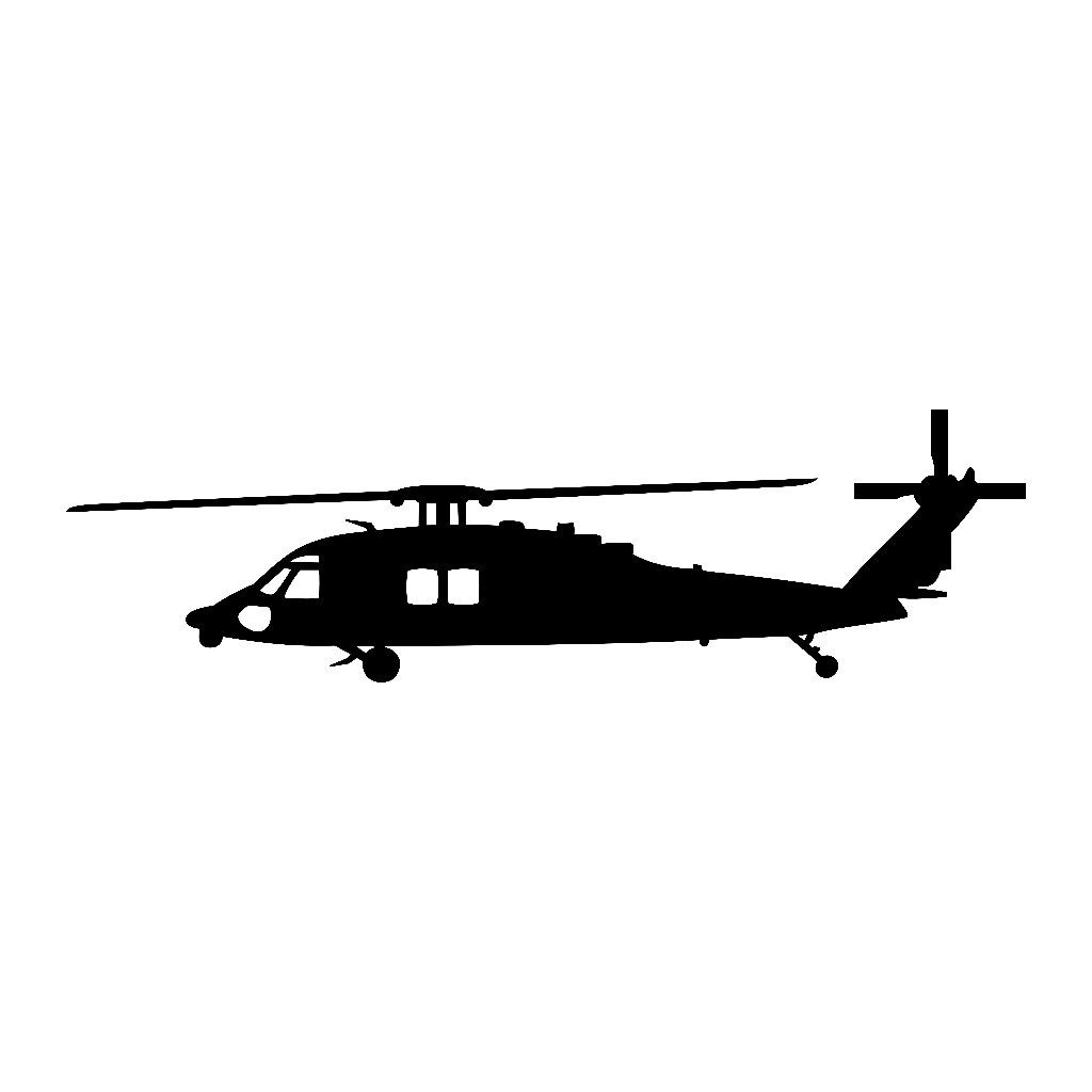 Sikorsky Blackhawk Helicopter Vinyl Sticker