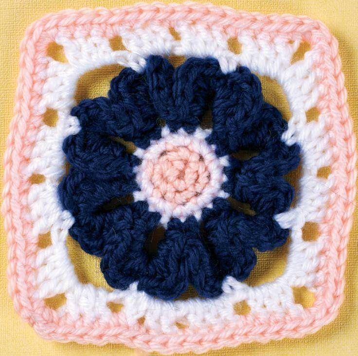 Flower Granny Square Free Pattern Granny Squares 7 Flowers