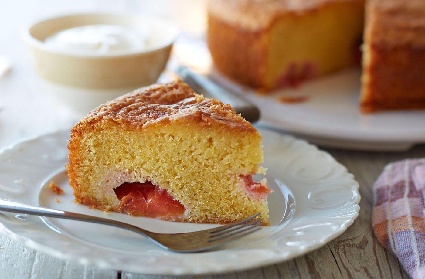 Glutenfree plum polenta cake recipe cornmeal cake