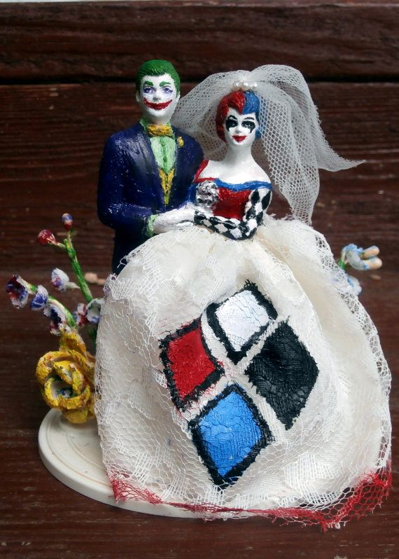 Joker And Harley Quinn Wedding Cake Topper When Geeks Wed Pinterest